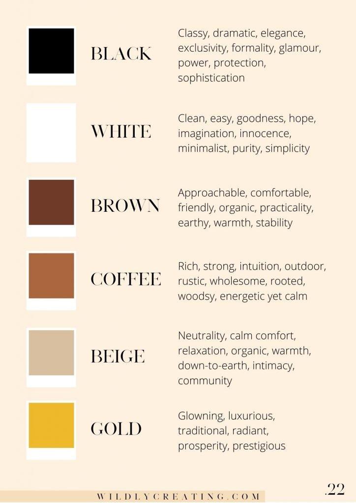 color psychology and color palette for your biz