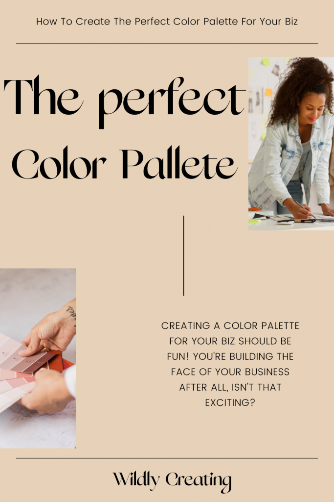 Color palette for branding your online business